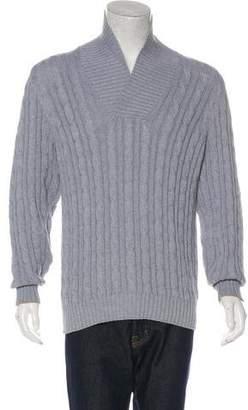Brunello Cucinelli Cable Knit Shawl Sweater