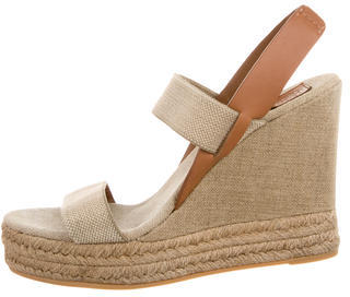 Tory Burch Multistrap Slingback Wedges $85 thestylecure.com