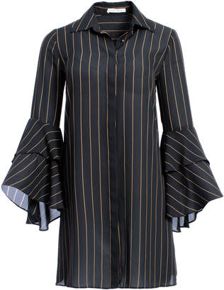 Alice + Olivia JEM TRUMPET SLEEVE SHIRT DRESS