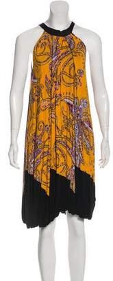 Etro Abstract Print High Neck Dress