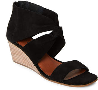 Lucky Brand Black Tammanee Knotted Wedge Sandals