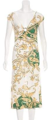 Just Cavalli Knee-Length Print Dress w/ Tags