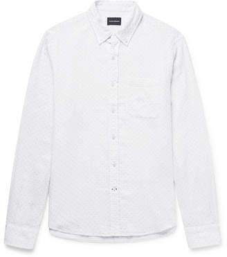 Button-down Collar Printed Cotton-seersucker Shirt - WhiteClub Monaco Magasin De Destockage Offre yFAN3ERhyX