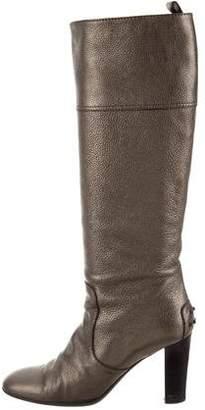 Tod's Metallic Knee-High Boots