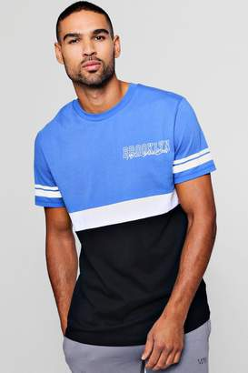 boohoo Colour Block Brooklyn T-Shirt