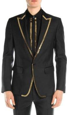 DSQUARED2 Silk& Wool Sequin Blazer