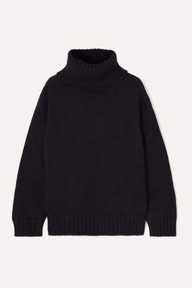 Monse Open-back Merino Wool Turtleneck Sweater - Navy