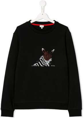 Paul Smith TEEN zebra print sweatshirt