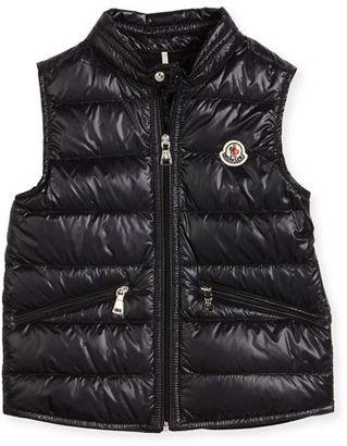 Moncler Gui Down Puffer Vest, Size 4-6 $225 thestylecure.com