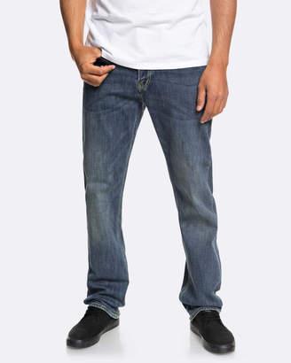 Quiksilver Mens Sequel Medium Blue Regular Fit Jean