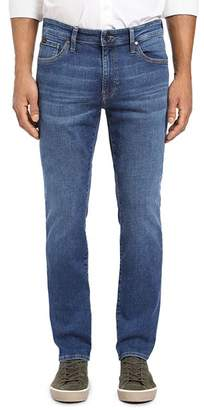 34 Heritage Courage Straight Fit Jeans in Mid Indigo Cashmere