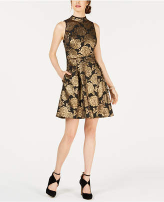 Nanette Lepore Nanette by Metallic Jacquard Dress