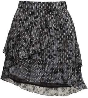 IRO Wrap-effect Leopard-print Fil Coupe Chiffon Mini Skirt