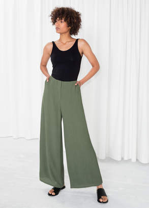 And other stories Wide Crepe Trousers