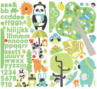Oopsy Daisy Fine Art For Kids Timberland Friends Peel and Place Wall Decal Set