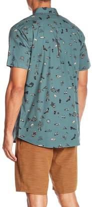 O'Neill Squawk Short Sleeve Print Standard Fit Shirt