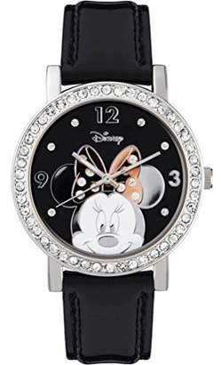 Disney Minnie Mouse Women's Analogue Quartz Watch with Polyurethane Strap – MN1149