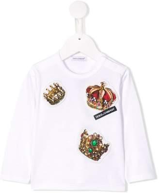 Dolce & Gabbana Crown patch T-shirt