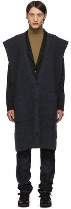 Maison Margiela Grey Felted Gauge 3 Half Cardigan