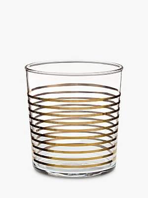 John Lewis & Partners Striped 36cl Tumbler, Gold