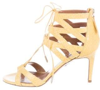 Aquazzura Leather Caged Sandals