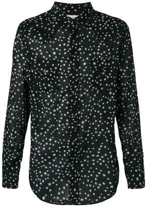 stripe sheer long-sleeve shirt - Black Saint Laurent Cheap Official qkRGfWlkd
