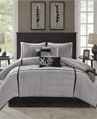 Dune Madison Park 7-Pc. Faux-Suede Full Comforter Set Bedding