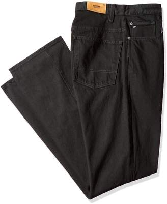 Tommy Hilfiger Men's Big and Tall Black Classic Straight Denim Pant