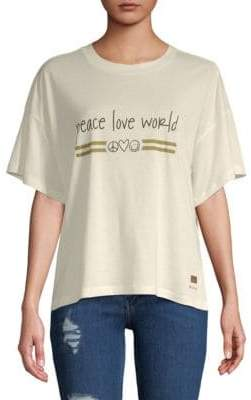 Peace Love World Kenny Dropped-Shoulder Top