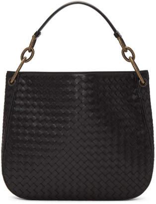 Bottega Veneta Black Intrecciato Loop Bag