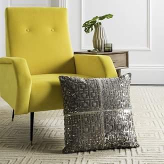 "Safavieh Cami Metallic Cowhide 20"" x 20"" Pillow Geometric Pillow"