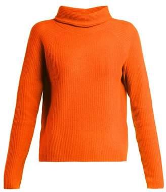 Allude Roll Neck Cashmere Sweater - Womens - Orange