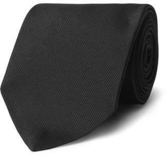 Alexander McQueen 8cm Embroidered Silk-Blend Twill Tie - Men - Black