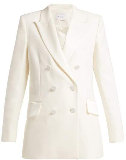 Racil - Audrey Double Breasted Wool Blazer - Womens - Ivory