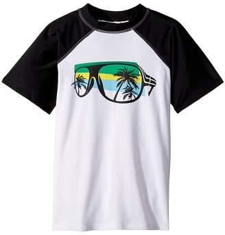 Appaman Kids Palm Tree and Sunglass Print Rashgaurd Boy's Swimwear