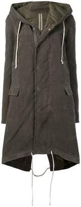 Rick Owens long hooded coat