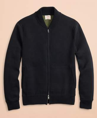 Brooks Brothers Zip-Up Bomber Sweater