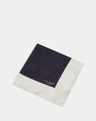 Ted Baker HYTHE Geo print silk pocket square