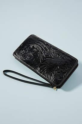 Hobo Embossed Leather Zip Wallet