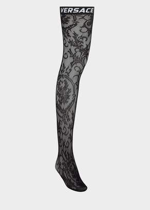 Versace Logo Lace Stockings