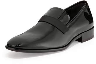 Salvatore Ferragamo Patent Loafer, Black
