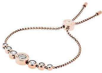 MICHAEL Michael KorsMichael Kors Brilliance Logo Slide Bracelet/Rose Goldtone