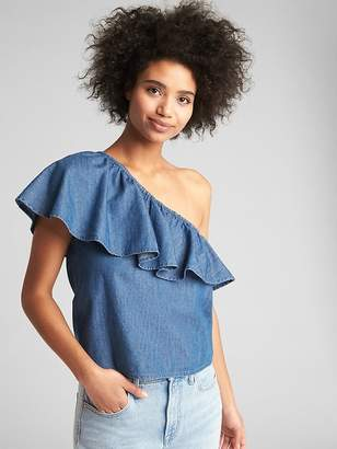 Gap One-Shoulder Ruffle Top