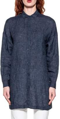 Bagutta Blue Cora Linen Shirt