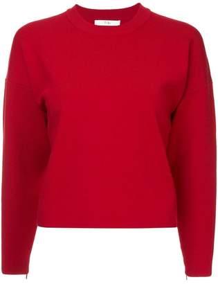 Tibi sculpted zip sleeve pullover