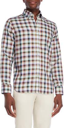 James Tattersall Green Multi Check Shirt