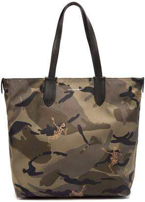 Alexander McQueen Dancing Skeleton camouflage-print tote bag
