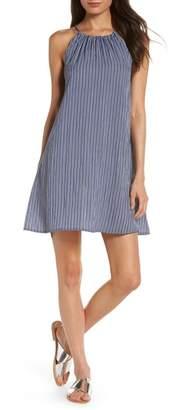 Knot Sisters Julia Stripe A-Line Halter Dress