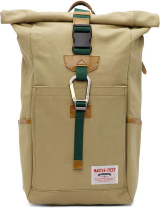 Master-piece Co Master Piece Co Beige Link Roll-Top Backpack