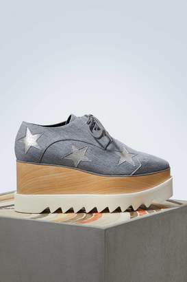 Stella McCartney Elyse wedge derby shoes